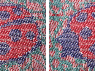 Belinda-Rose-Woven-Fabric-and-Weaving-Courses-in-Banchory-Aberdeenshire-lampas ladybirds