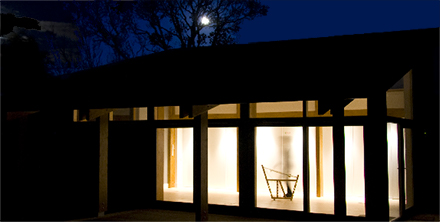 New Colourbothy Weaving Studio at night