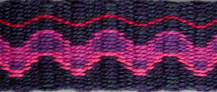 Detail of tablet woven neck band