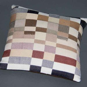 Cushion: Double weave with partially painted warp