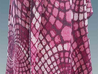 Satin wool and silk shawl