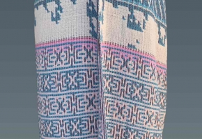 length of deflected double weave