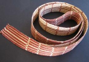 Tablet woven linen tie