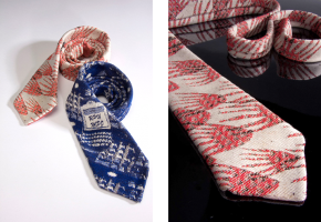 two handwoven jacquard ties