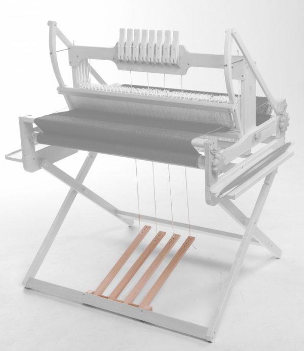 Ashford loom treadle kit supporting loom