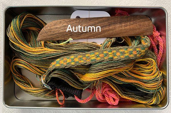 Belinda Rose Weave Aberdeenshire autumn tablet weaving kit